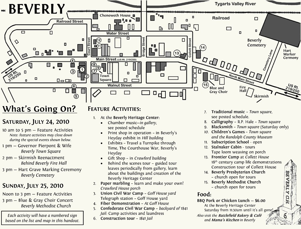 Beverly Heritage Days Map 2010