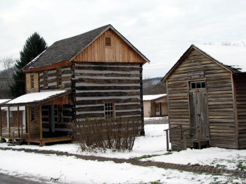 historical outbuildings at the Historical Society