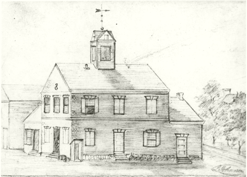 beverly courthouse drawing from civil war